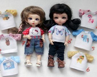 T-shirts for Lati Yellow, Pukifee, Irrealdoll, Luts tiny DELF, Aquariusdoll 16 cm bjd doll outfit dress clothes #1