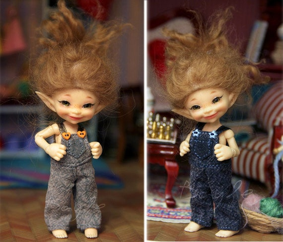Different overalls for realpuki bjd doll pants shorts outfit jumpsuit 1//12 dress
