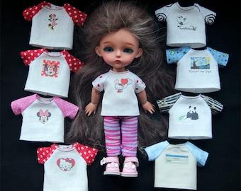T-shirts for Lati Yellow, Pukifee, Irrealdoll, Luts tiny DELF, Aquariusdoll bjd doll outfit dress clothes #2