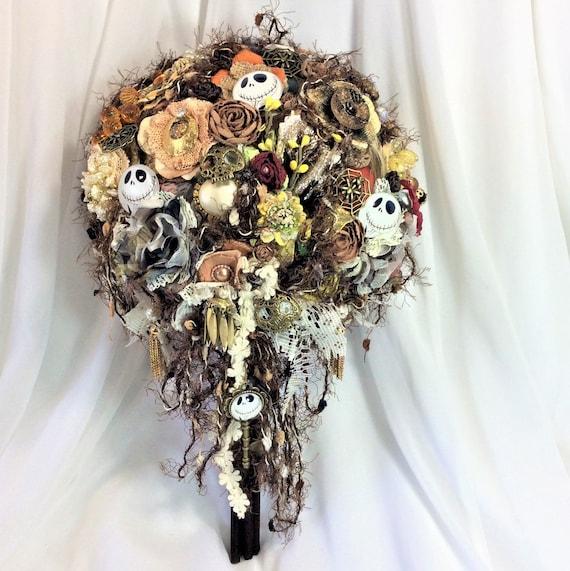 Nightmare Before Christmas Wedding Bridal Flower Bouquet Jack Etsy