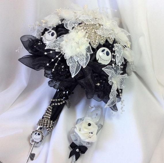 Nightmare Before Christmas Wedding Bridal Flower Bouquet Black Etsy