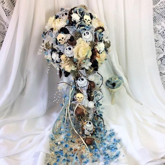 Nightmare Before Christmas Wedding Bouquet Bridal Flowers Etsy