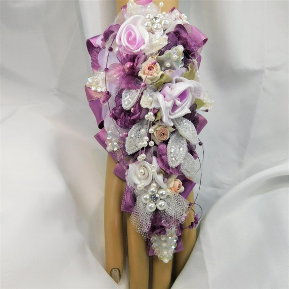 Wisteria Lavender Corsage Set Custom Wedding Bridal Set Etsy