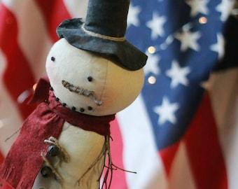 Primitive Doll SNOWMAN