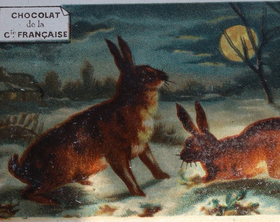 Antique French Trade Cards for Chocolate and Tea