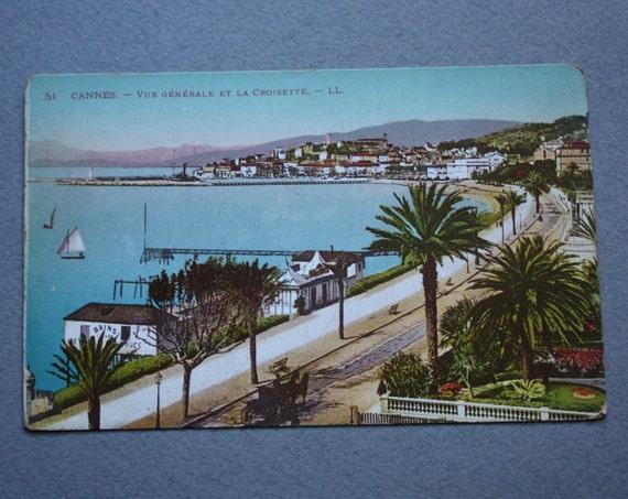 Lévy Fils et Cie Cannes Postcard of Vue Générale et la Croisette
