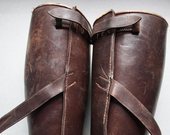 WWI Era Leather Greaves