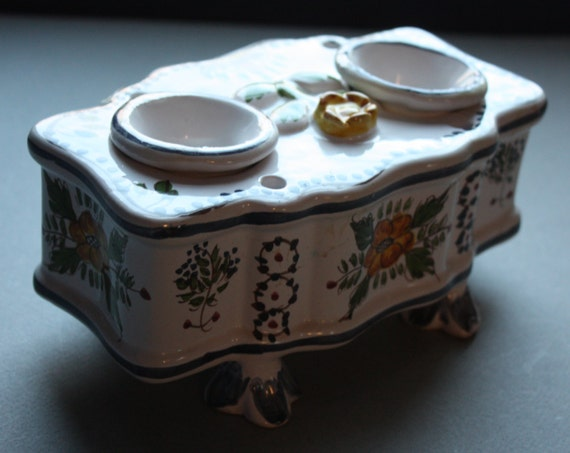 Portuguese Porcelain Inkwell