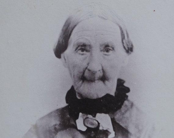 Elderly Woman Cabinet Card