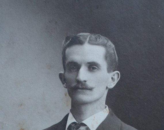 Man with Mustache Cabinet Card