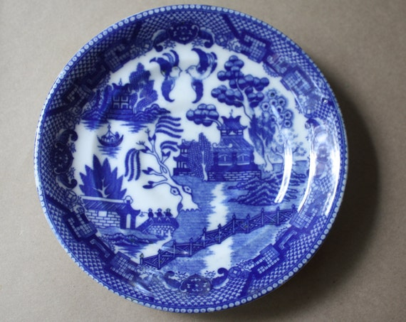 Blue Willow Saucer, Made in Japan