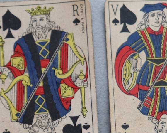 French, Catel and Farcy Vintage Piquet, Belote or Manille Deck