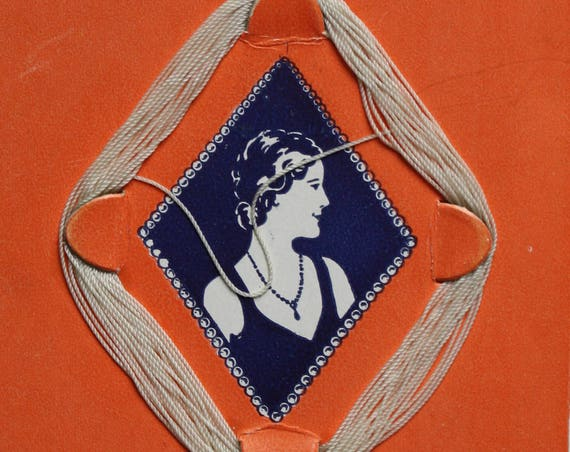 1920s Era Waxed Twisted Dupont Nylon for Knots Between Beads and Very Heavy Necklaces