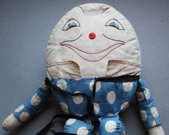 Humpty Dumpty Cloth Doll, Circa 1940s