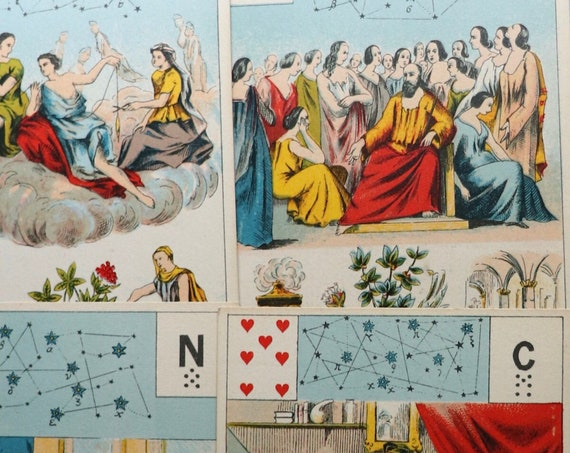 French, Astro-Mythological Grand Jeu de Mademoiselle Lenormand Tarot Deck by Grimaud