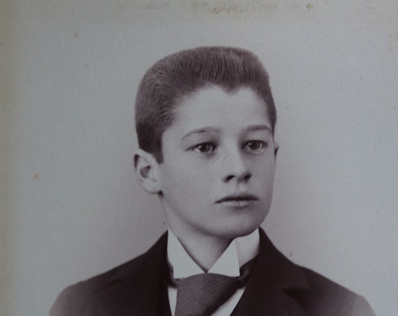 Cabinet Card of Young Boy