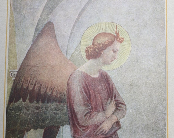 Fra Angelico's Gabriel from The Annunciation Art Print