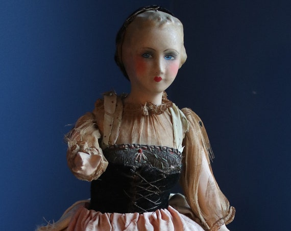 French or German, Composition Half Doll