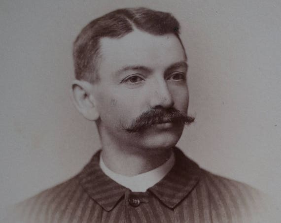 Cabinet Cards of Mustachioed Men