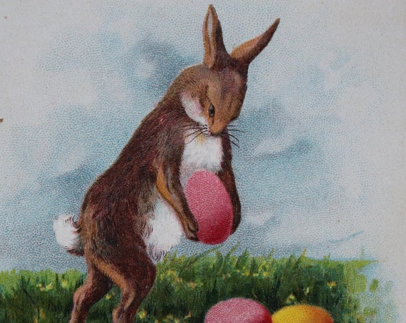 Best Wishes for a Happy Easter- Antique German Postcard