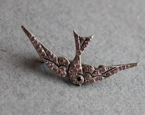 French Swallow Brooch