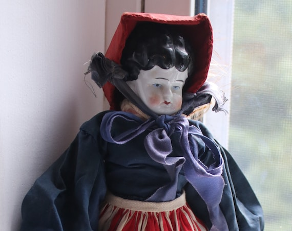 Antique Low Brow China Head Doll