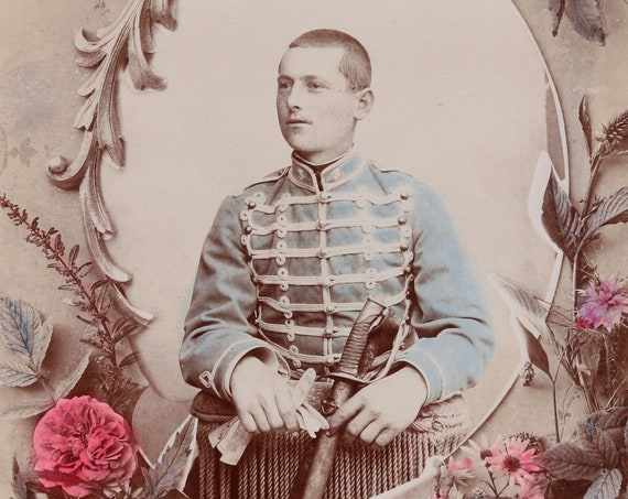 French Hussar, Circa 1800s Cabinet Card