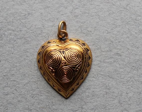 Triskelion, Breton, Heart Pendant by Kelt of France