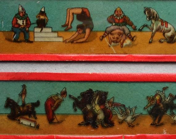 Circus-Themed Magic Lantern Slides, Circa Late 1800s