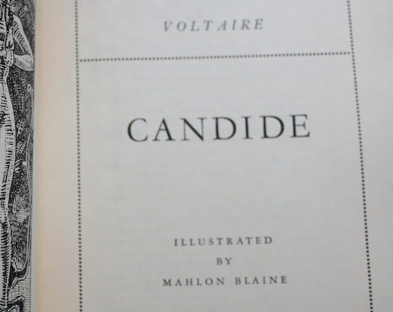 Voltaire's Candide with Illustrations by Mahlon Blaine