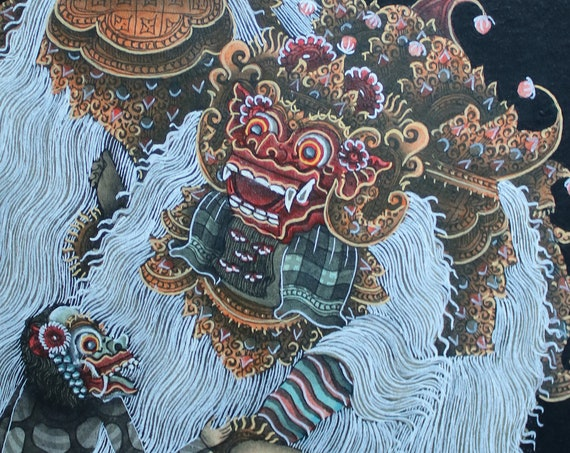 Balinese Barong Dance Painting
