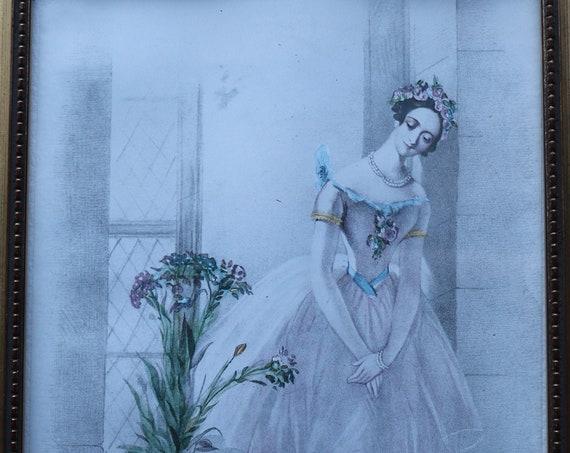 Marie Taglioni in La Sylphide Framed Print