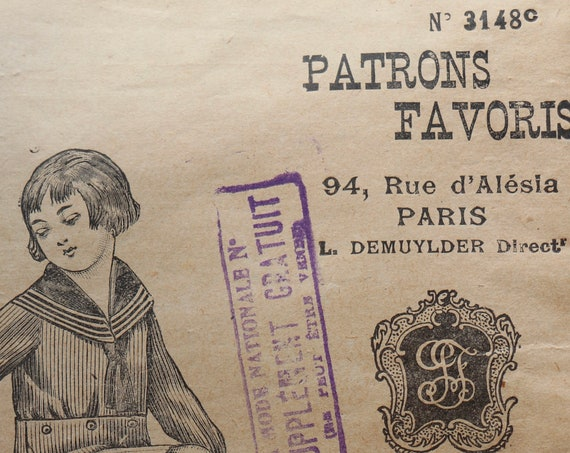 Patrons Favoris French Sailor Suit Pattern for Two to Four Year-Old Boy