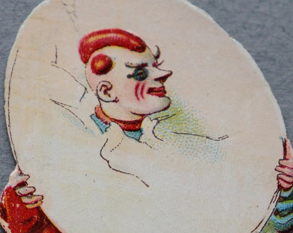 Antique, French Chromolithograph of Clown/Circus Performer