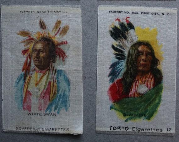 Antique, Circa 1910, Tokio and Sovereign Cigarettes American Indian Silks
