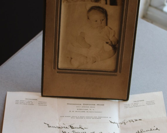Onondaga Orphans Home Letter and Photograph, Dated 1930