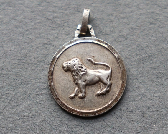 Silver Leo Pendant from France