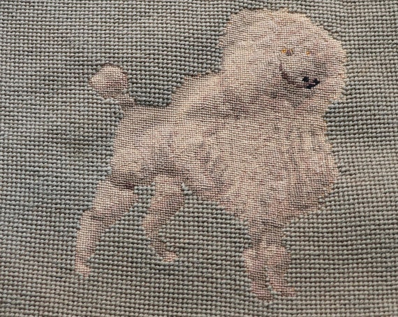 Embroidered Dog Pillow Cover for Restoration, Featuring Poodle and Terrier