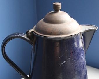 Blue Enamelware Coffeepot