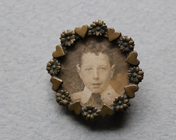 Antique French Photo Brooch
