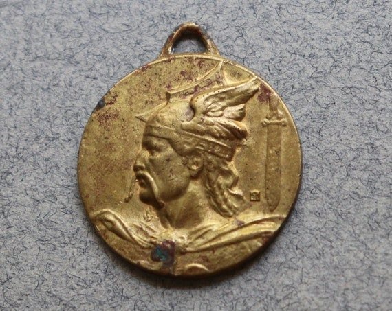 French Medal Featuring Vercingetorix, Circa Early 1900s