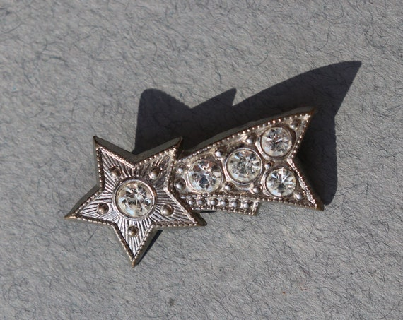 Vintage, Possibly Antique, Shooting Star Brooch from France