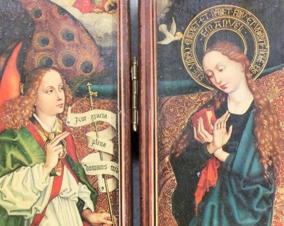 French, Traveling Icon of Martin Schongauer's Annunciation