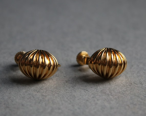 Napier Gold-Tone Screw Back Clip-On Earrings