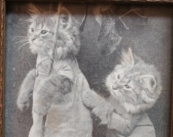 Circa 1930s Print from the Four Little Kittens