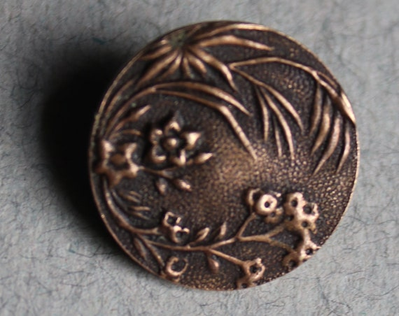 A.P. & Cie (Albert Parent and Company) Brass Button with Paris Back Mark
