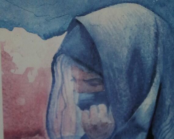 George Kosinski Framed Prints of Original Watercolors of Bedouin Women