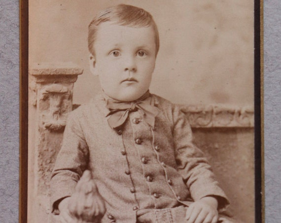 Antique CDV of Child Amputee, 1884, by Taylor and Preston of Salem, MA
