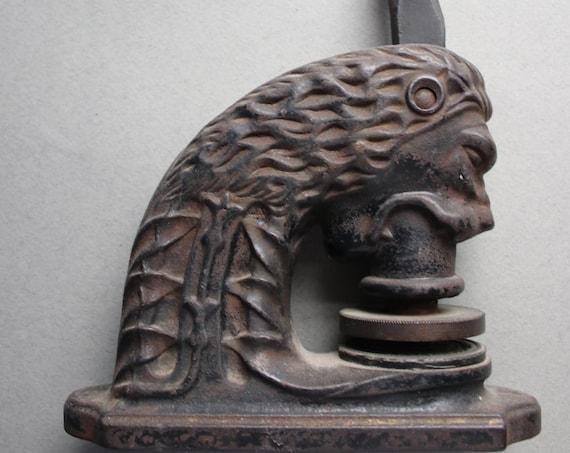 Antique, Cast Iron Lion Embosser