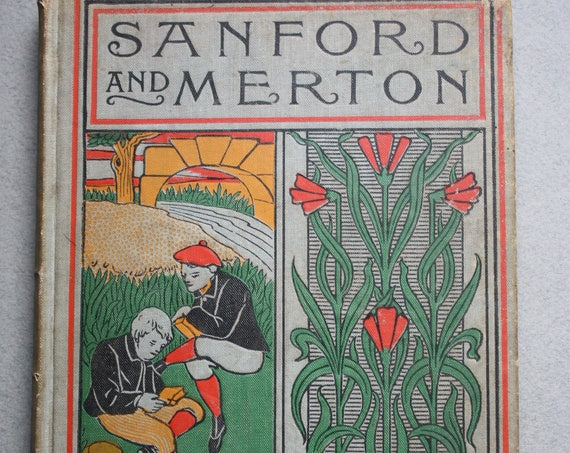 Antique Book: Sanford and Merton in Words of One Syllable by Mary Godolphin and Published by A.L. Burt of New York, 1895